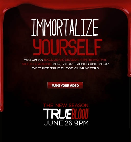 Immortalize Yourself and Your Friends in a True Blood Interactive Video