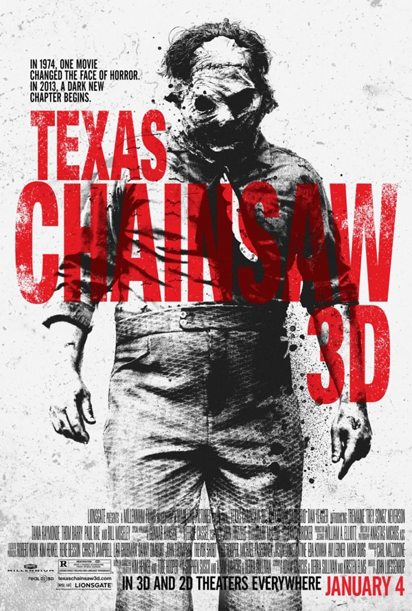 tcmhr - Leatherface Front and Center on NYCC Texas Chainsaw 3D One-Sheet