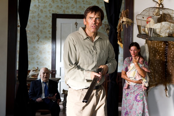 Grandpa and Drayton Sawyer Front and Center of New Texas Chainsaw 3D Stills