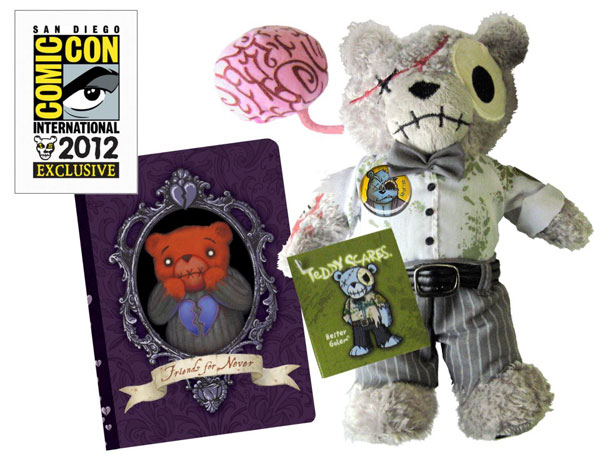 San Diego Comic-Con 2012: Applehead Factory Announces Exclusive Teddy Scares 'Zombie Hester Mini and Journal' Set