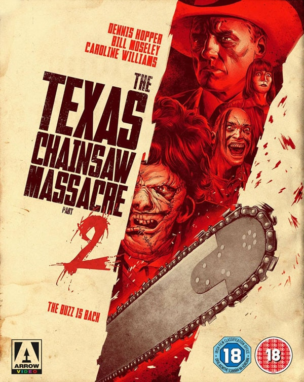 texas chainsaw massacre 2 blu ray s - Arrow Pierces the Hearts of Horror Fans with INCREDIBLE New Texas Chainsaw Masscare Part 2 Blu-ray