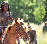 Michonne Riding High in Latest The Walking Dead Season 4 Still