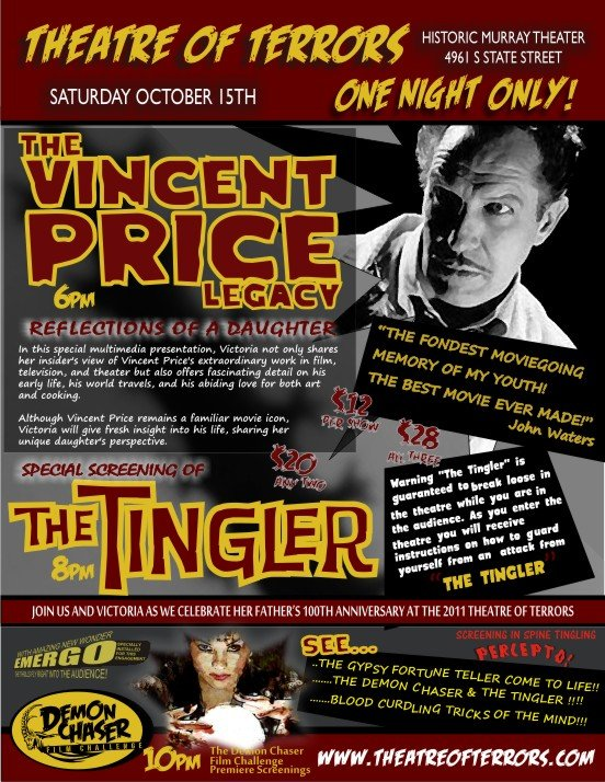 The Vincent Price Legacy Heading to Utah on October 15th