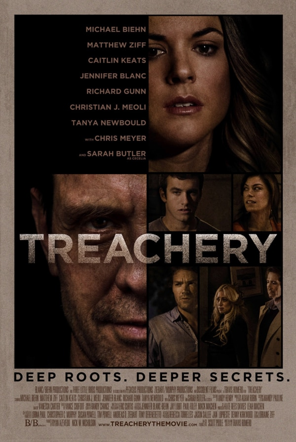 More Producers Join Michael Biehn for Treachery; New One-Sheet