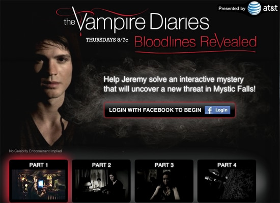 The Vampire Diaries: Bloodlines Revealed Interactive Game