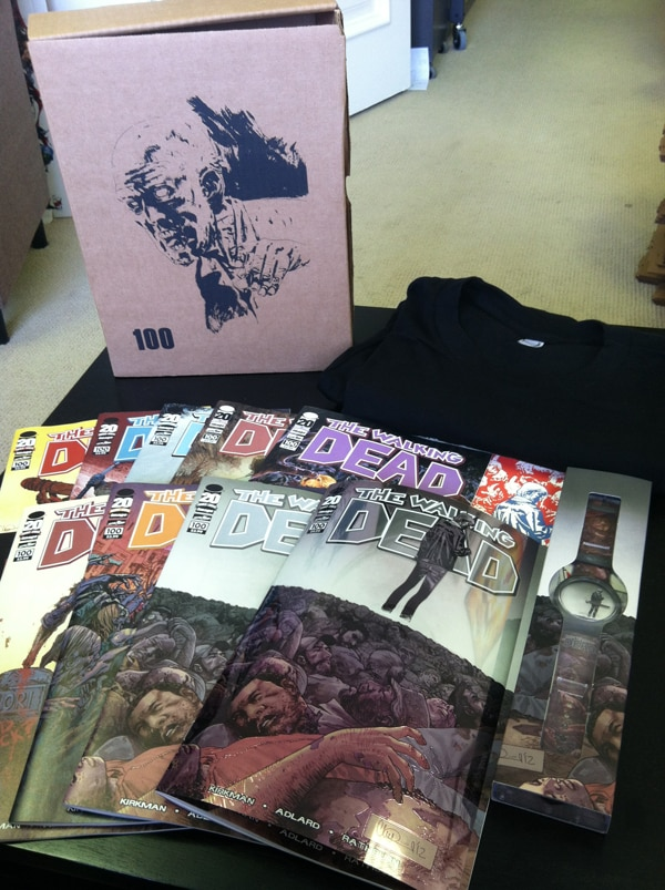 Details on The Walking Dead #100 Limited Edition Box Set!