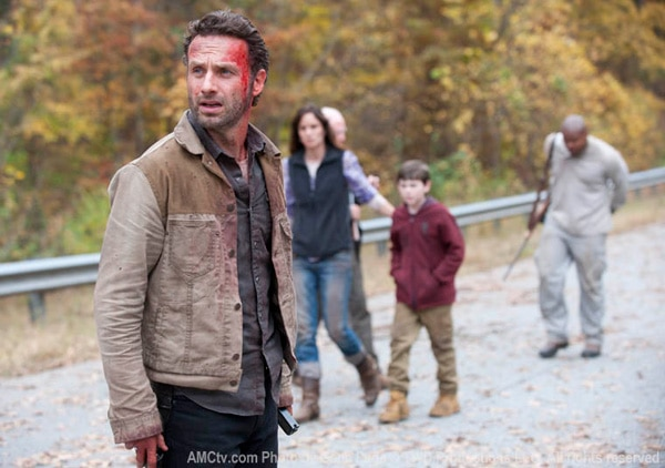 twd13b - The Walking Dead: Q&As with Michael Zegen, Jon Bernthal, and Robert Kirkman; Clip and Photos from Episode 2.13 - Beside the Dying Fire