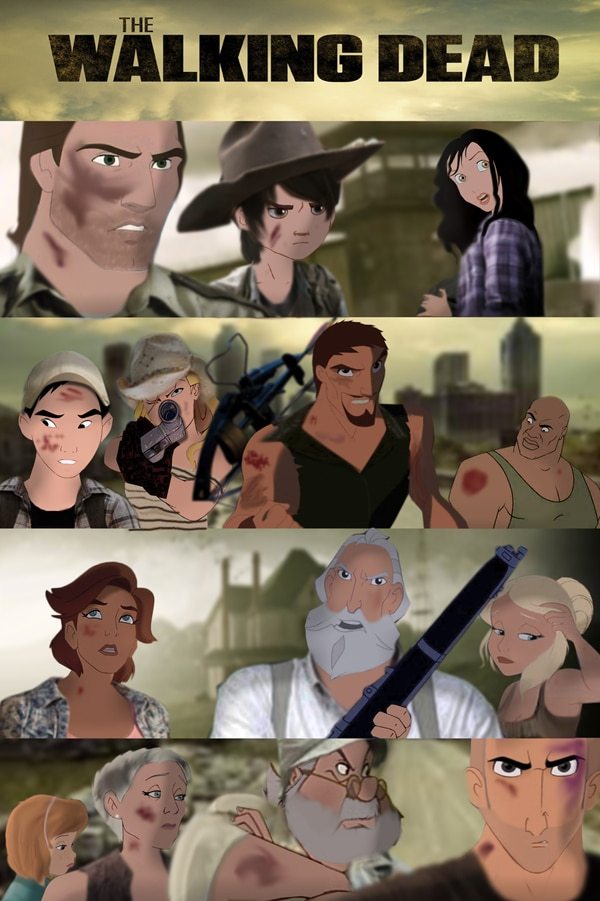 The Walking Dead Re-Animated Disney-Style