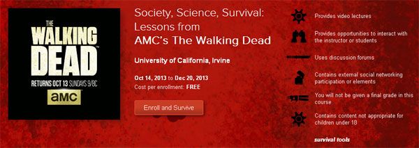 Detailed Module Descriptions and Syllabus for Online Course Inspired by The Walking Dead