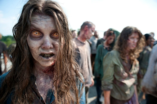 First Image From The Walking Dead Season 2 - The Zombie Parade Begins! (click for larger image)