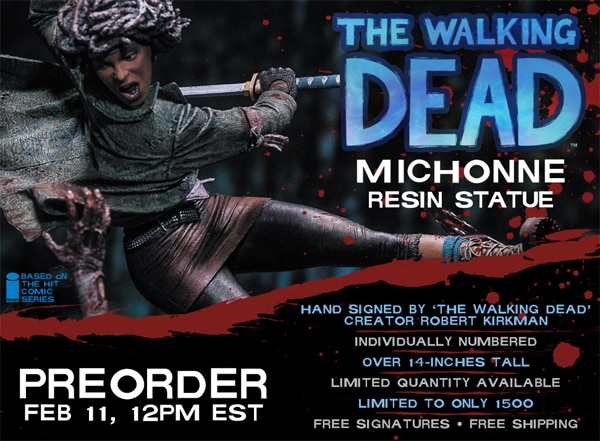 McFarlane Toys Reveals its New The Walking Dead Statue Featuring Michonne