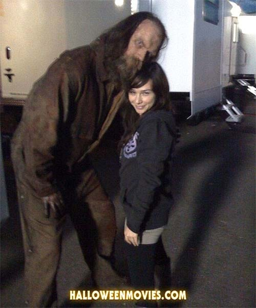 Tyler Mane and Danielle Harris On Set in H2