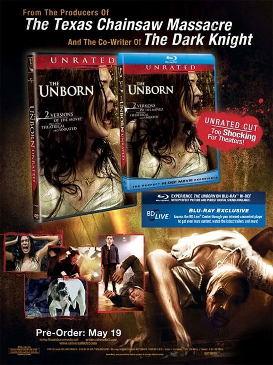 Early Unborn DVD and Blu-ray Art