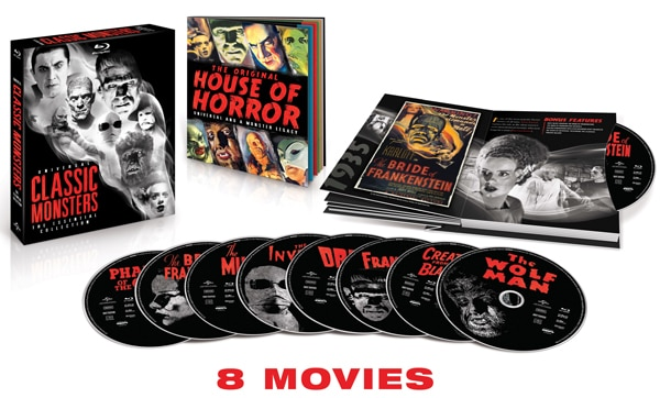 Details, Artwork, and a Clip from Universal Classic Monsters: The Essential Collection on Blu-ray