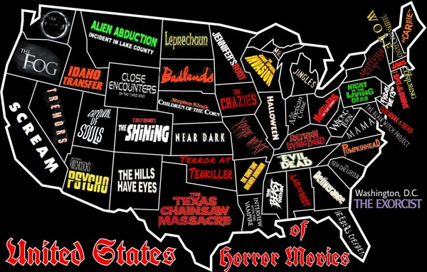 United States of Horror Movies (click for larger image)