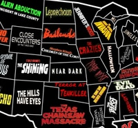 Fun Map Shows United States of Horror Movies