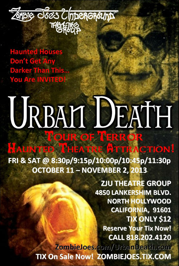 Experience Urban Death at the ZJU Theatre in North Hollywood, CA