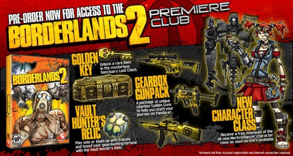 Borderlands 2 Offers Season Pass and Premiere Club - Dread Central
