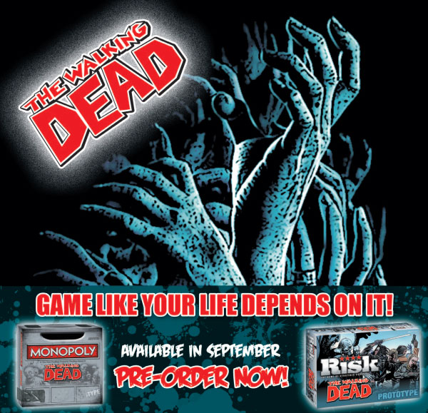 The Walking Dead Risk and The Walking Dead Monopoly Rise