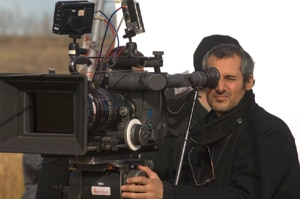 DP Karim Hussain on the set of Walled In!