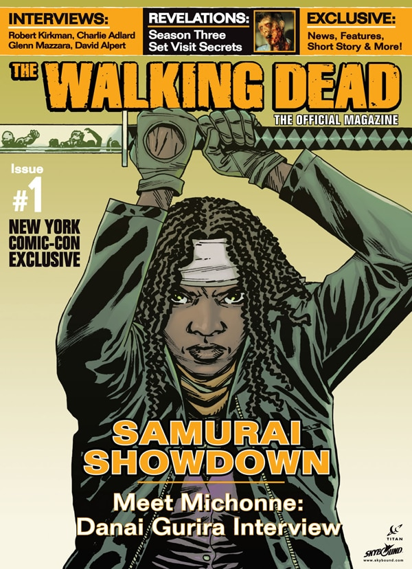 First Look at the Exclusive New York Comic Con Cover for Issue #1 of The Walking Dead, The Official Magazine