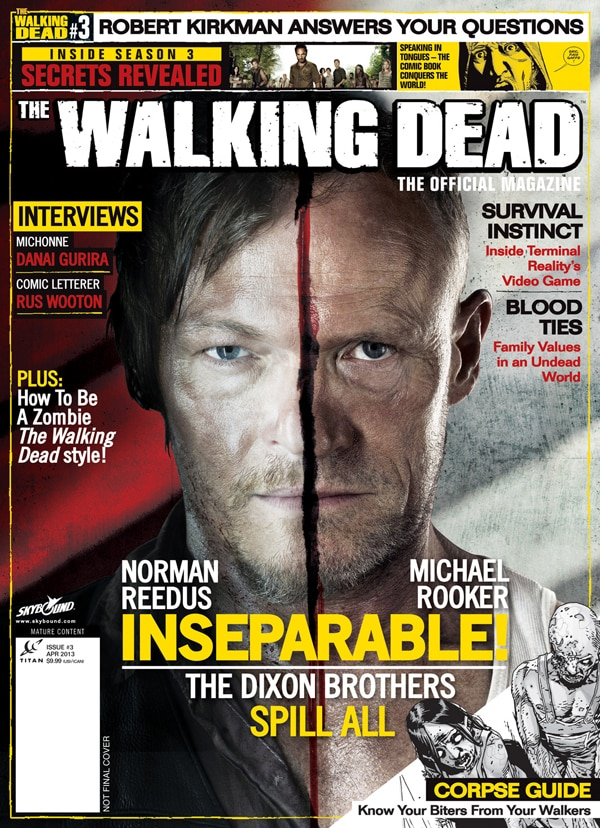 wdmag3new - Alternative Artwork and More Details on Issue #3 of The Walking Dead, The Official Magazine
