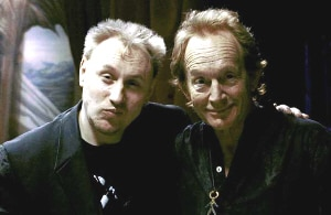 Jake West (left) with the unstoppable Lance Henriksen