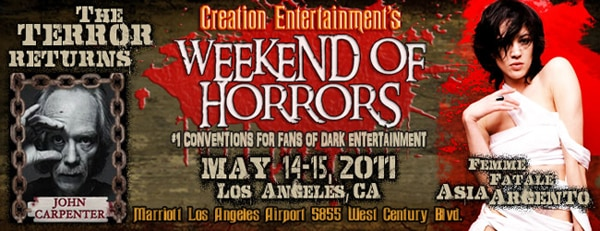 Full Details on the Upcoming LA Weekend of Horrors (May 14-15) from Creation Entertainment