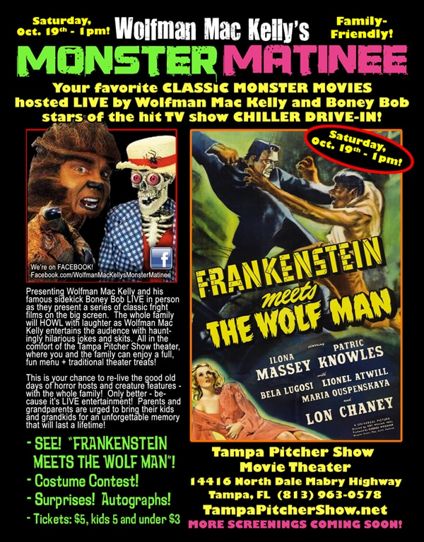 Wolfman Mac Kelly's Monster Matinee