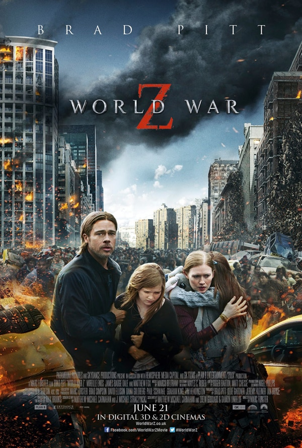 world war z int - Latest International World War Z One-Sheet Home to a Photoshopped Family in Peril