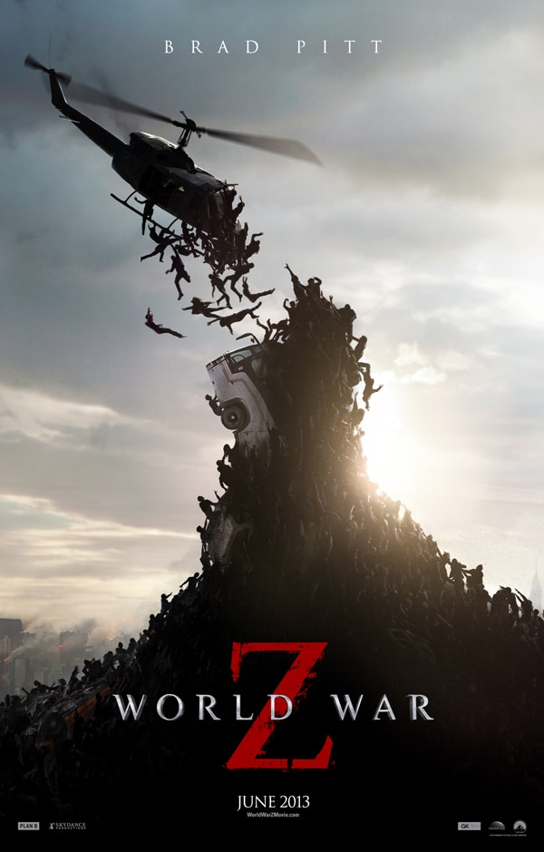 world war z one sheet v2 - The World War Z Countdown Begins in These Two New TV Spots