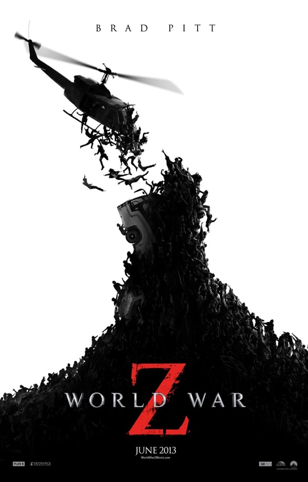 world war z one sheet - The World War Z Countdown Begins in These Two New TV Spots