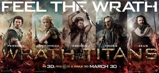 New Character One-Sheets for Wrath of the Titans