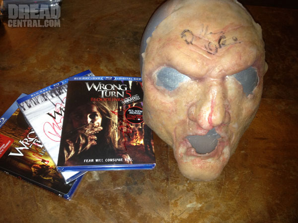 Win Blu-rays of Wrong Turn 3, 4 and 5 and a One of a Kind FX 'Saw Tooth' Prosthetic!