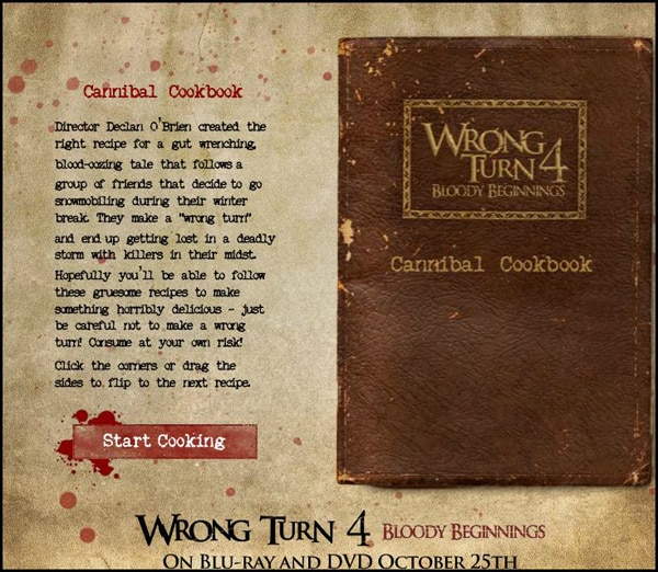 Wrong Turn 4: Bloody Beginnings Crack Open the Cannibal Cookbook!