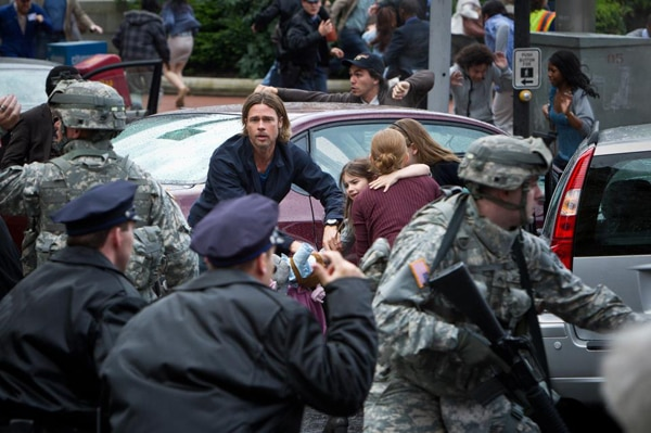 New World War Z Still; More on the Film's Running Zombies and a Possible Trilogy