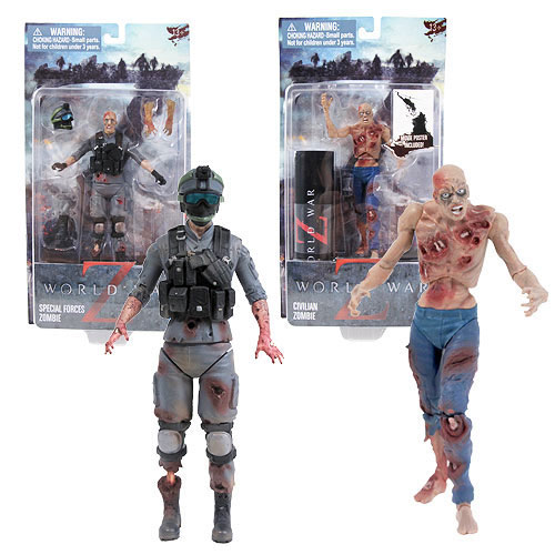 Bring Home You Own Little Brad Pit with Jazwares' World War Z Action Figures
