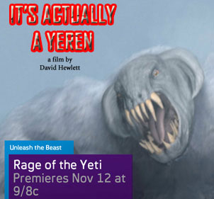 Witness the Rage of the Yeti this Weekend on Syfy