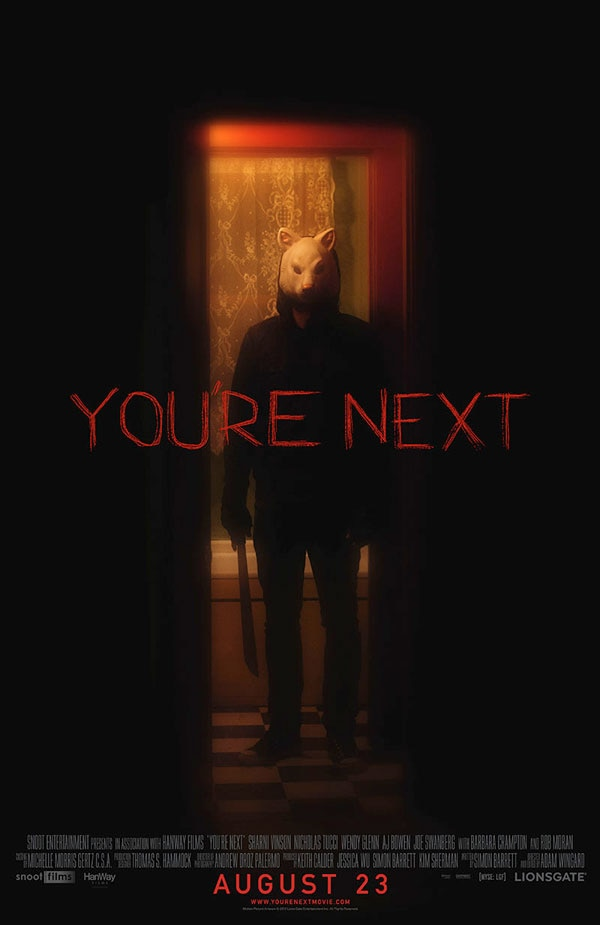 youre next poster - Exclusive: Writer Simon Barrett on You're Next, Sequel Potential and More