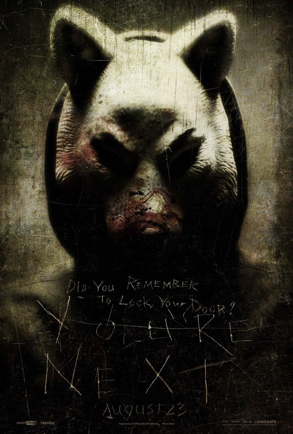 youre next poster2 - A New Trailer for You're Next Swims in from Across the Pond