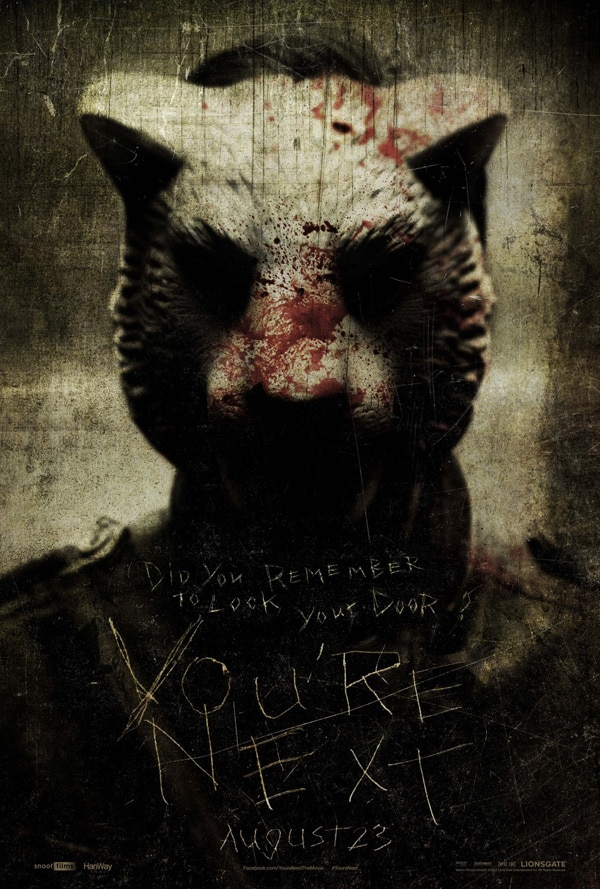 youre next poster3 - A New Trailer for You're Next Swims in from Across the Pond