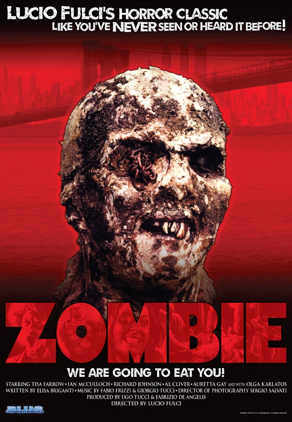 Lucio Fulci's Zombie Crashes Back into Theatres; New Theatrical One-Sheet, Trailer, and More!
