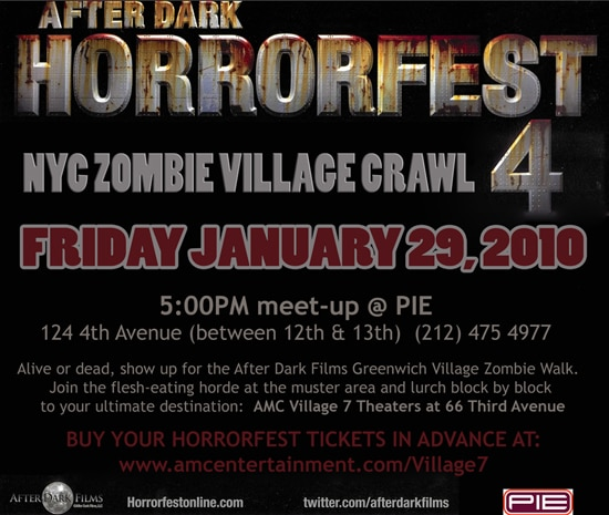 In NYC?  Walk with the Zombies of Horrorfest 4!