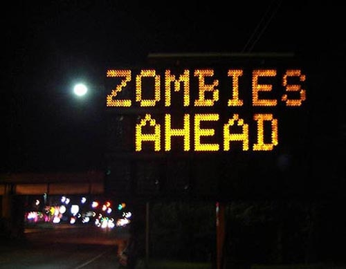 Zombies Ahead in Austin Texas