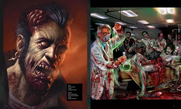 zombook1 - Zombie Lovers: Get an Early Look at The Zombook Art Book Coming in September