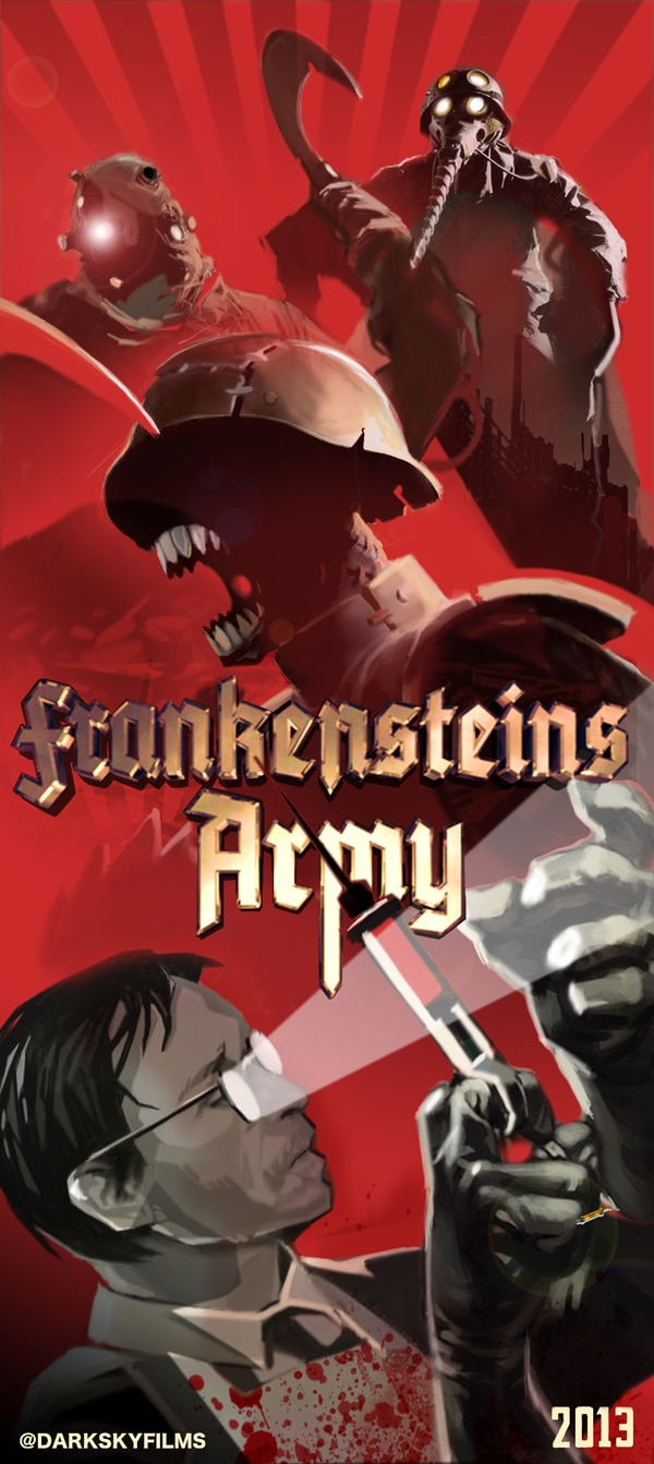zombot - San Diego Comic-Con 2012: Frankenstein's Army Marches in with Badass Artwork